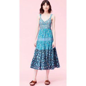 NWT Rebecca Taylor La Vie Print Mix Lurex Dress S